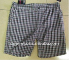 Men's 100% Cotton Checker Shorts