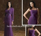 Hot sale Sexy Elegant Sash Purple Suits dress