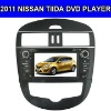 Car DVD Player for 2011 Nissan Tiida with GPS,IPOD,Bluetooth,Digital Touch Screen,Steering Wheel Control