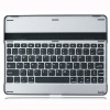 Aluminum Blue Tooth keyboard with slot to hold iPad in use