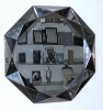 octagon silver mirror
