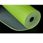 Green TPE yoga mat,thick yoga mat