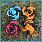 beautiful rose mixcolor big ribbon flower
