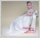 New designer White Appliqued Lovely kids fashion dress