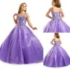 FG-052 2013 new arrival fall floor length ball gown flower girl dress purple