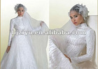 Fashionable Style Factory Direct Hot Sales Long Sleeve Muslim Wedding Gowns