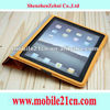 Wholesale Orange Leather Case Cover With Stand for Ipad2