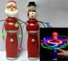 Magic Spinning Santa Snowman