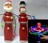 Magic Spinning Santa Snowman