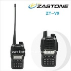 VHF Radio 5W Dual Band Amateur Radio dual display two way radio ZASTONE ZT-V9 with keypad,handheld walkie talkie