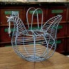 hen shaped wire egg basket