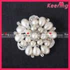 Fashion crystal pearl brooch wholesale WBR-1056