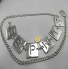 Newest & in discount Yiwu 2012 western embossed logo new fashion chain belt