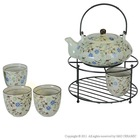 Hand-painted Ceramic Tea Set With Stand,Coffee Set