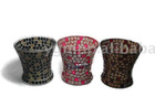 Mosaic holder,glass candle holder,glass candleholder