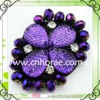 purple shoe accessories flowers
