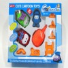 Cartoon inertial mini car toy set