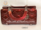 Small size shiny lady leather clutch bag
