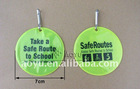 reflective PVC keychain for promotion,safe notice