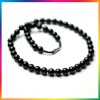 Fashion black agate necklace