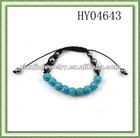 Shambhala bracelets/CCB decorated/Handmade/Silver tone
