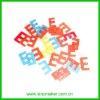 scrapbooking crafts DIY alphabet plastic buttons
