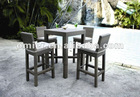 Modern Rattan high top bar tables and chairs
