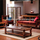 Recycle wood frame fabric sofa