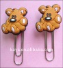 Bear shape paper clip book mark