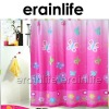 Pink Butterfly Polyester shower curtain