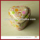 Heart Coin tin box with lock