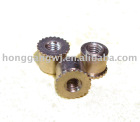 Brass Knurled Standoffs, Knurling Head Rivet,Clinch Stud Nut Standoff