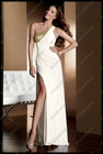Newest Full Length One Shoulder White Prom Dress PS-083