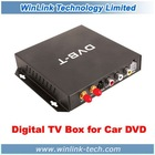 Car DVD External DVB-T MPEG4 TV Receiver Box For Rissia and Europe