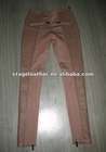 new design lambskin stripped pants sexy girl pant