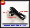 high speed USB2.0 AM TO MINI5P Cable with filter compatible 1.1ver