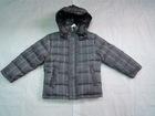 Wholesale & Retail Boys Hooded Plaid Down Coat/jacket--Gray