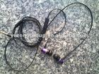 Metal Flat cable handsfree / Stereo Earphone