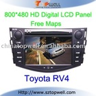 Special Touch Screen Bluetooth Car DVD GPS Player for Toyota RV4 with USB SD Card Port
