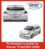auto PU bodykit suitable for Nissan Tiida (2005-2007)