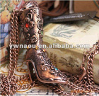 occident fashion high-heeled boot necklace jewelry bronze necklace pendant