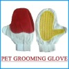 cotton and PVC pets grooming glove