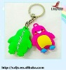 2011 hot selling hello kitty shaped rubber keychain