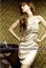Beaded Satin New Fashion Dress 2012 PF002