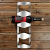 Stainless steel standing wine display rack