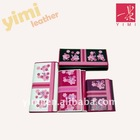 nice flower printing ladies PU wallet