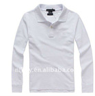 2011 Fashional Cotton women long sleeve polo Shirt