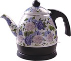 FLOWER ENAMEL ELECTRIC KETTLE 1.0L-TEA POT