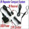 IR Repeater infrared remote control system compact USB 1 Receiver 2 Emitters new