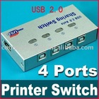 4 Port USB 2.0 Printer Scanner Auto Sharing Switch Box